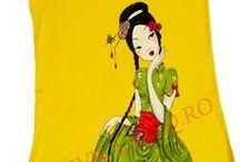 Tricouri pictate de dama by LaviQ / Combinatiile de linii si cercuri amuzante, desenate pe o panza, obtii un tricou fun & fashionable LaviQ, plin de viata, 100% bumbac, pictat manual in culori textile www.laviq.ro www.facebook.com/pages/LaviQ/206808016028814