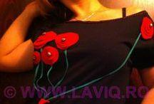 Tricouri cu aplicatii dama by LaviQ / Cu creativitate si unicitate, lucrate manual, cu mult suflet si magie artistica, tricourile cu aplicatii LaviQ sunt farmecul acestui sezon www.laviq.ro www.facebook.com/pages/LaviQ/206808016028814