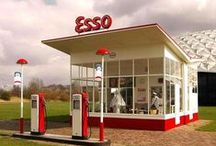 Vintage Garages & Gas Stations / Old school auto repair shops and gas stations