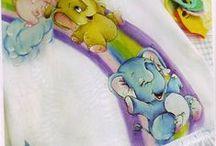 riscos infantis / pintura em tecido