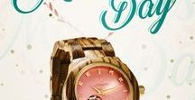 Top Gifts for Women / A natural JORD wood watch makes the perfect gift for the well dressed woman on your list. Find joy, share love, give Jord! Birthdays, anniversaries, Mother's day, there is always a reason to celebrate her!