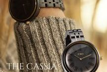 The JORD Cassia | Women's Jewelry Trends / The Cassia series by JORD is the newest offering in our women's collection. It features a precision Citizen Miyota quartz movement, domed sapphire crystal, interlaced wood & metal link band, and a double deployant buckle. Engraving is available on the backplate!