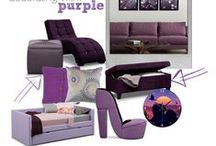 """Purple Reign / We love everything purple! Purple is a fusion of masculine and feminine and adds massive personality to any space. Plus we like to sing """"Purple Rain"""" by Prince anytime we see it. / by Value City Furniture"""
