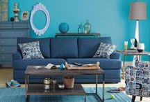 Shades of Blue / We've got the blues (in a good way)! Shades ranging from cobalt to navy to azure are all the rage this year. Here are some great ways to add it into your home.  / by Value City Furniture