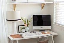 ☞☞ Home Office Ideas ☞☞ / Desde que trabajo en casa quiero tener un espacio en el que me pueda inspirar mucho más y del que no quiera salir. :)
