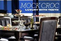 Trendspotting: #MockCroc / Faux croc is all the rage in the home!See how to style it! / by Value City Furniture