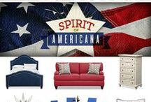 Americana / Show off your patriotic pride in style with The Spirit of Americana Collection. Inspired by a love of all things U.S.A., this homey and heartfelt collection offers a contemporary twist on this classically country design.
