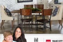 Industrial - Magnolia Home / From the mind of Joanna Gaines... This genre is bold and holds purpose. These pieces come with a strength and a story that inspires the practical side of a room. Industrial pieces came from a place where hard work was happening and are characterized by their signature worn-in, repurposed look.