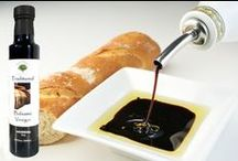 Balsamic Vinegars / The most delicious Balsamic Vinegar of Modena infused with fresh Northern California fruit. Now your favorite fruit flavors can be used to dress salads, drizzle over dessert or just mixed with olive oil for a dipping sauce.