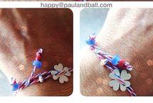 bracelets / handmade brachelets using silver, wax thread, beads, semi precious stones and many more!