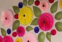 Papierové kytice / Kvety z papiera