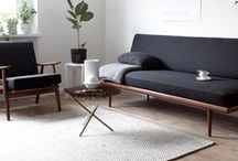 Living Room / Living room inspiration. Living room furniture, modern living room, stylish living room, living room ideas, living room decor, living room paint color ideas, living room decor apartment, living room decor ideas, living room layout. Couches, coffee tables, love seats, rugs, curtains, lamps.