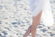 Walking barefoot through the sand