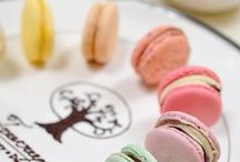 Macarons / Macarons in different shapes, and different tastes