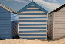 Beach Hut Summer / We are lucky enough to have 40 beach huts in our little cove! Images and ideas for a beach hut summer...