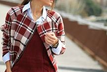 """C H E C K S -&- P L A I D S / Take a look at the variety of colors checks and plaids come in this season.  Flairvoyant's """"how to wear"""" for Fall Winter 2013."""