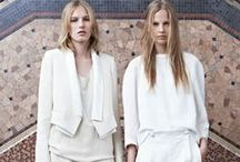 W H I T E S / Crisp, cool and minimal.  Like a clean fresh sheet of snow.  FW 2013