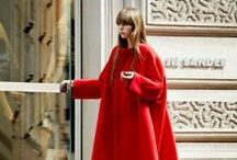 R E D / The bright, bold color that conjures memories of fiery warmth - and help us cope through this winter!  FW 2013