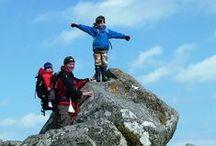 Mountain High / Little Trekkers on top of the world.