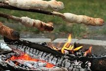 Cooking Outdoors  / Picnics, barbecues and much, much s'more! Food always tasted better when it's eaten outdoors.
