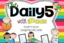 Les 5 au quotidien/Daily Five / activités/ateliers/idées/affichage pour les 5 au quotidien et les ateliers de littératie