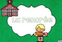 Rentrée scolaire/Back to School / French products, freebies, ideas about Back to school time! Documents en français, idées et bricolages de la rentrée scolaire!