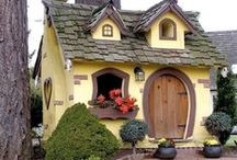 Hobbit house / Hobbits are a fictional, diminutive, humanoid race who inhabit the lands of Middle-earth in J. R. R. Tolkien's fiction. They are also referred to as Halflings. Hobbits first appeared in the novel The Hobbit, whose titular hobbit is the protagonist Bilbo Baggins.