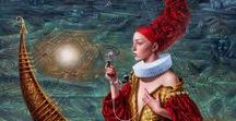 Michael Cheval / Michael Cheval is a contemporary artist specializing in Absurdist paintings, drawings and portraits. He is the co-founder of Cheval Fine Art Inc. and currently resides in New Jersey, United States. His work is internationally acclaimed and has been exhibited regularly in galleries across the United States and Europe.