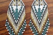 Beaded Earrings / Mostly beading