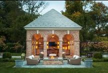 Outbuildings / Pool houses, tennis courts, potting sheds, and outdoor living spaces