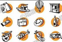 Vector Icons, Signs & Pictograms Collections / Vector Icons, Signs & Pictograms including Web, Sport, Signage, Pastel, Orange, Fitness, Computer Pictograms, Arrows, Traffic & Parking, Business Concepts, Tourism / Travel, Prohibition, Tags, Safety, Packaging, Fire, Notice, Mandatory, Zodiac, Horoscope, Danger, Environment & Recycling, Disabled, Cautions & Warnings, Fantasy, Health, Kanji, Shiny, Square, Ecology, Green, Fitness, Human, Art, Babies & Kids Icons and etc.