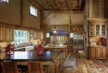 Rustic Barn / Complementing the original early 1800's colonial home on a Greenwich estate, this antique barn provides a rustic setting for entertaining and accommodating guests.