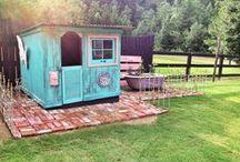 DOMKI DLA DZIECI playhouse garden / Playhouse, garden, DIY, handmade, akcesosories, inspiration Domek w ogrodzie, inspiracje, pomysły