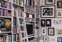 My Future sweet and lovely Home. Library. / A library with a ladder. How nice. Μία ατέλειωτη, γεμάτη βιβλιοθήκη με μία σκαλίτσα, μία άνετη πολυθρόνα και διάθεση για πολύ διάβασμα...