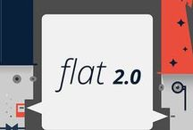 Flat 2.0 / Where flat design was a radical departure from the rampant skeumorphism of days gone by, flat 2.0 is an inevitable evolution of web and app design.