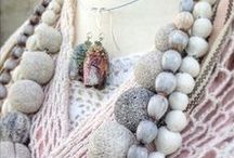 Fine porcelain beads created by Ekaterina Ezhkova. Design jewelry / Design jewelry from nature inspired