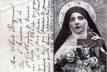 """Iconographie de Ste Thérèse de Lisieux / """"Thérèse aux roses et ses admirateurs"""" / """"St. Therese with Roses  and her fans"""""""
