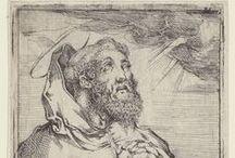 """Saint Augustin 354-430 / Fils de Patricius et de Ste. Monique. Evêque titulaire d'Hippone (Annaba, Algérie) en 396 - Fête le 28 août - """"Je crois afin de comprendre"""" / """"I Believe in Order to Understand"""".  - """"Tolle, lege ! Tolle, lege !  /  Prends et lis ! Prends et lis !"""""""