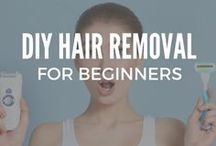 DIY Hair Removal / The best DIY hair removal ideas for face, bikini, Brazilian, legs, underarm, stomach and for the upper lip that are permanent and painless.