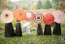 A rainy wedding day...