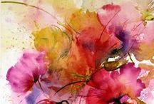 Watercolours & flowers / art