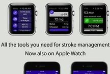 Our stroke tools for iOS & Apple Watch / Screenshots of our application for stroke management on iOS and Apple Watch   AppStore Link: http://apple.co/1E6RFAz  Website page: http://bit.ly/1P2xnZM