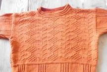 Knitting patterns of men's models / Knitting patterns in wool and cotton of men's models