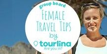 Female Travel Tips by Tourlina / Find out the best female travel tips from travel bloggers. To contributors: All travel related pins are fine, e.g. destination pins, general travel advice, especially all female travel related pins. The pins can be written from you as well as from other female writers, couple writers or men who write about female travel. Have a look for pins of other contributors as well, everybody is happy about repins :)