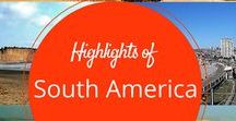 South America Travel / Find travel ideas, tips and information about the south american countries - Argentina, Bolivia, Brazil, Chile, Colombia, Ecuador, Peru, Uruguay and Venezuela