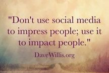 | Social Media | / Don't use social media to impress people. Use it to impact people ♡ Ich bin eindeutig ein Fan vom gesunden Umgang mit social media. Von oben, unten, links, rechts, innen und außen betrachtet. Let´s keep it real and honest! Dann kann social media eine ganze Menge positives bewirken ♡