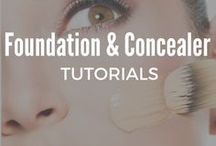 Foundation and Concealer Tutorials / Learn the best techniques to help you to apply flawless foundation and concealer, while also getting great pointers and learning about the best products and beauty makeup tips to use for contouring, makeup baking and the perfect concealer make up for your under eyes.