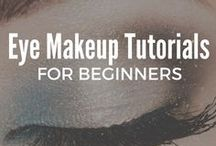 Eye Makeup Tutorials for Beginners / Are you looking for the best eye makeup tutorials for beginners? Here I post the step-by-step tutorials to help you apply eyeliner, eyeshadows and every day natural makeup ideas for brown, blue and green eyes. Whether your prefer a smokey eye look to enhance your hazel eyes, or are looking for tutorials to complement your dark skin, check out these simple eye makeup ideas for beauty babes on a budget.