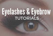 Eyelashes and Eyebrow Tutorials / Are you looking for the best eye eyelashes and eyebrow Tutorials? Here I post step-by-step tutorials to help you groom, tweeze, wax and shape your brows. Check out these simple eye makeup ideas to apply fake eyelashes and fatten your fringe.
