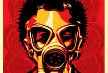 Obey / Shepard  / Painel de arte, Street, revolução